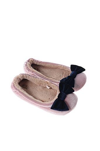 Chaussons/Pantoufles rose BODEN pour femme