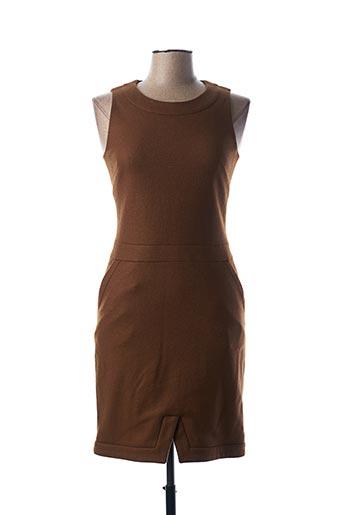 Robe mi-longue marron TEENFLO pour femme