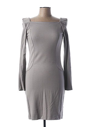 Robe courte gris TEENFLO pour femme