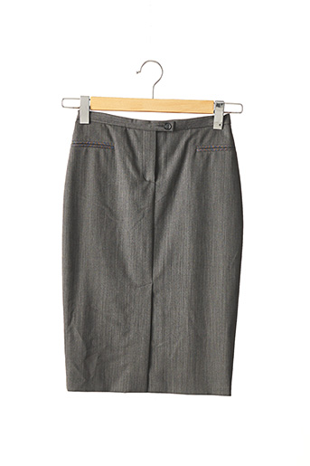 Jupe mi-longue gris TEENFLO pour femme