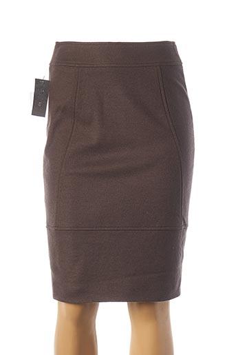 Jupe mi-longue marron TEENFLO pour femme