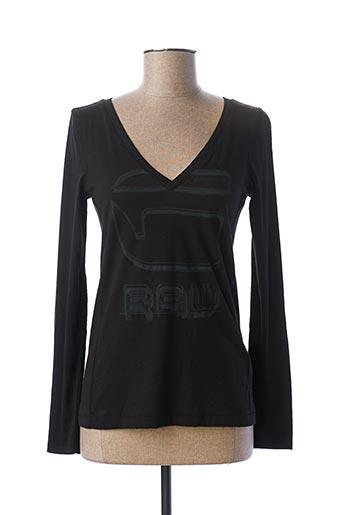 T-shirt manches longues noir G STAR pour femme