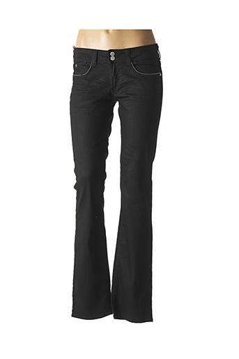 Jeans coupe droite noir LE TEMPS DES CERISES pour femme