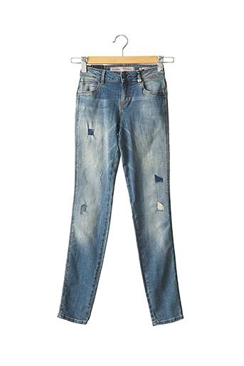 Jeans coupe slim bleu GUESS pour femme