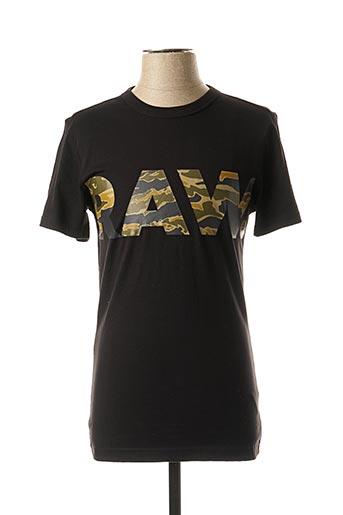 T-shirt manches courtes noir G STAR pour garçon