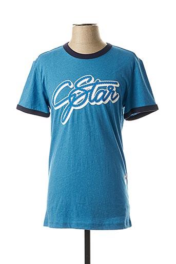 T-shirt manches courtes bleu G STAR pour homme