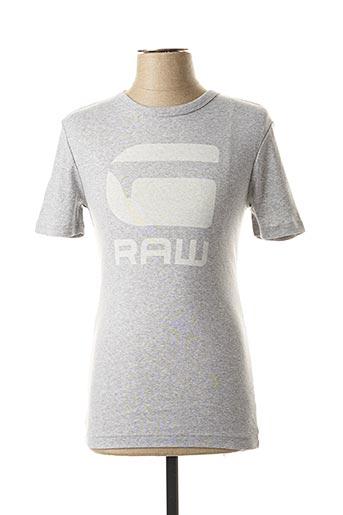 T-shirt manches courtes gris G STAR pour homme