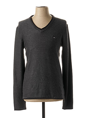 Pull col V gris GUESS pour homme