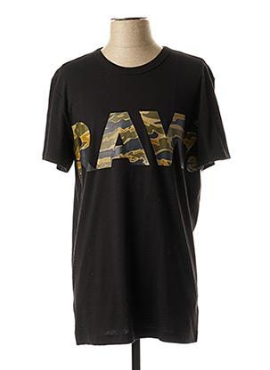 T-shirt manches courtes noir G STAR pour homme