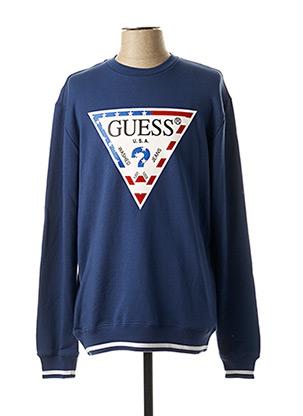 Sweat-shirt bleu GUESS pour homme