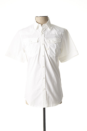 Chemise manches courtes blanc G STAR pour homme