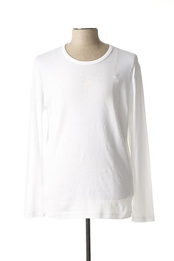 T-shirt manches longues blanc G STAR pour homme
