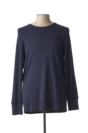 T-shirt manches longues bleu G STAR pour homme