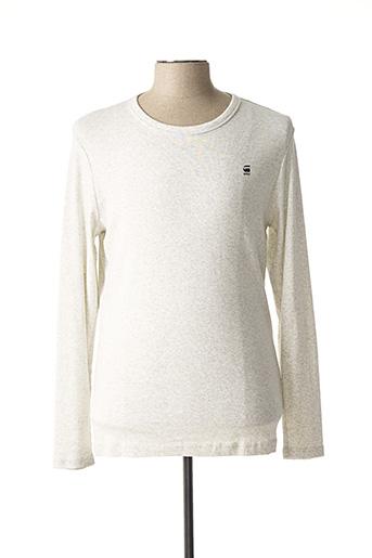 T-shirt manches longues gris G STAR pour homme