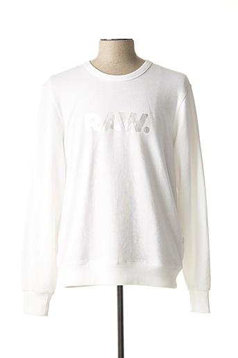 Sweat-shirt blanc G STAR pour homme