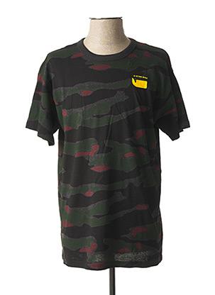 T-shirt manches courtes vert G STAR pour homme