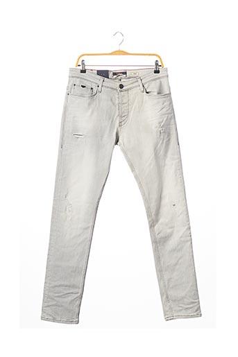 Jeans coupe slim gris SALSA pour homme