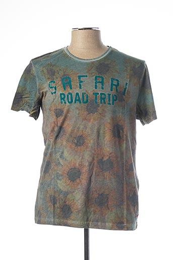 T-shirt manches courtes vert JACK & JONES pour homme