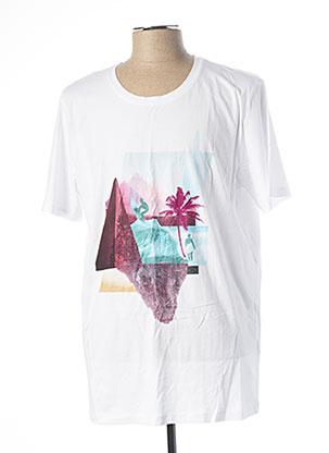 T-shirt manches courtes blanc PREMIUM DE JACK AND JONES pour homme