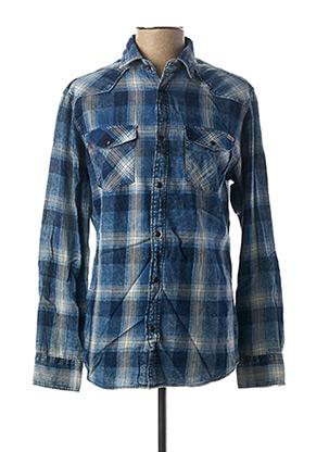 Chemise manches longues bleu JACK & JONES pour homme