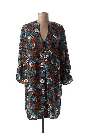 Robe courte bleu TEDDY SMITH pour femme