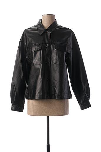 Veste simili cuir noir CHERRY PARIS pour femme