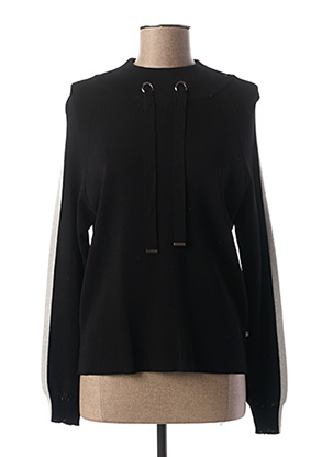 Pull col cheminée noir I.CODE (By IKKS) pour femme