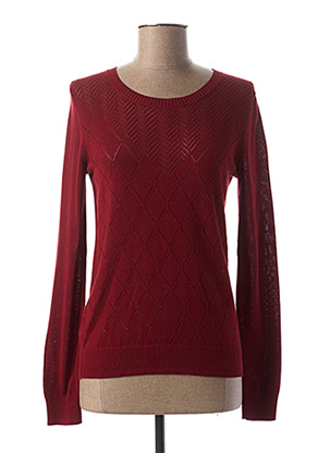 Pull col rond rouge I.CODE (By IKKS) pour femme