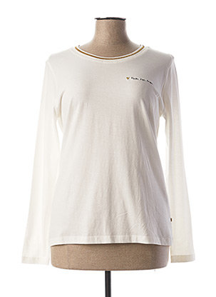 T-shirt manches longues blanc I.CODE (By IKKS) pour femme