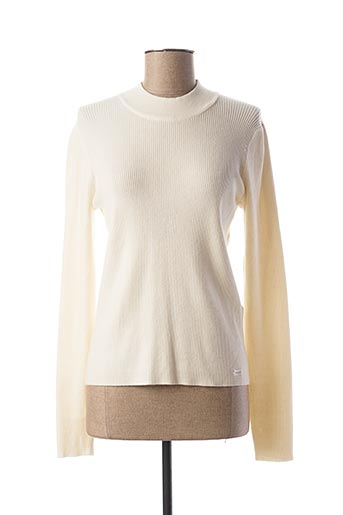 Pull col cheminée beige TEDDY SMITH pour femme