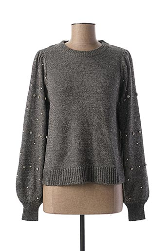 Pull col rond gris TIFFOSI pour femme