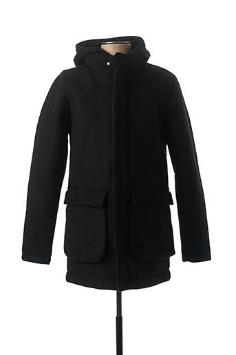 Manteau long noir TEDDY SMITH pour homme