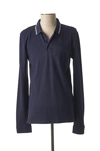 Polo manches longues bleu TIFFOSI pour homme