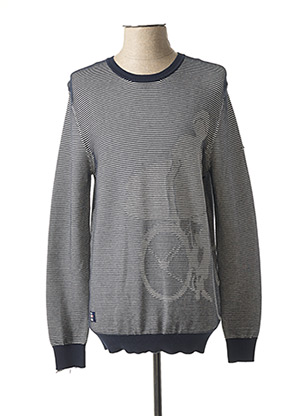 Pull col rond bleu OXBOW pour homme