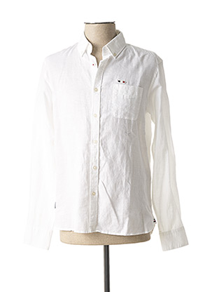 Chemise manches longues blanc OXBOW pour homme