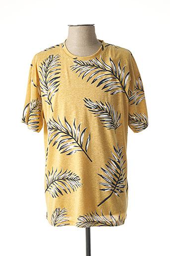 T-shirt manches courtes jaune TIFFOSI pour homme