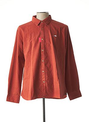Chemise manches longues marron OXBOW pour homme