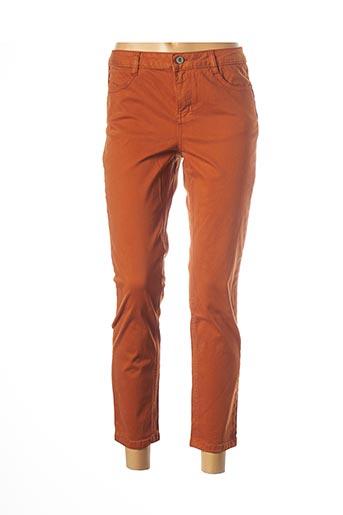 Pantalon 7/8 orange LOLA ESPELETA pour femme