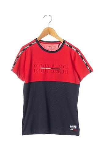 T-shirt manches courtes rouge TEDDY SMITH pour garçon
