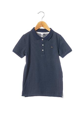 Polo manches courtes bleu 3 POMMES pour garçon