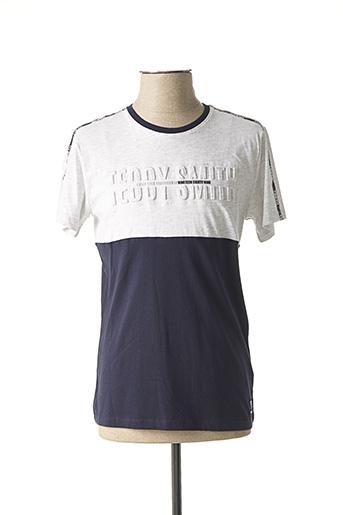 T-shirt manches courtes bleu TEDDY SMITH pour garçon