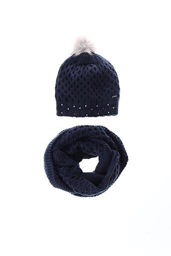 Bonnet bleu BECKARO pour fille