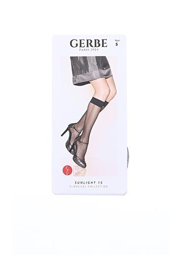 Chaussettes noir GERBE pour femme