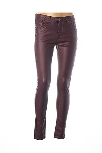 Pantalon casual violet B.YOUNG pour femme