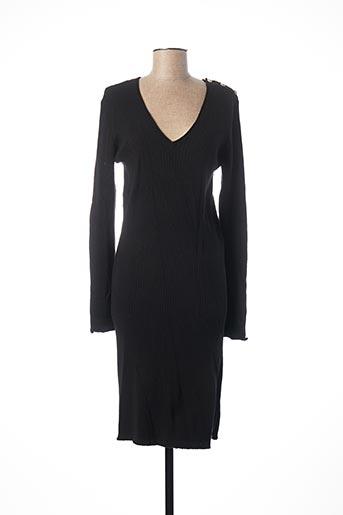 Robe mi-longue noir EXQUISS'S pour femme