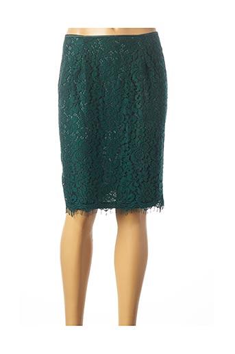 Jupe mi-longue vert KAFFE pour femme