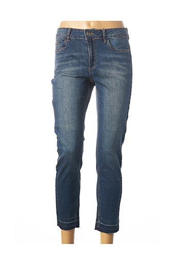 Pantalon 7/8 bleu KAFFE pour femme