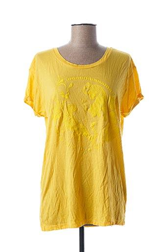 T-shirt manches courtes jaune ALIX pour femme