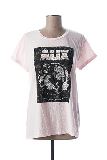 T-shirt manches courtes rose ALIX pour femme