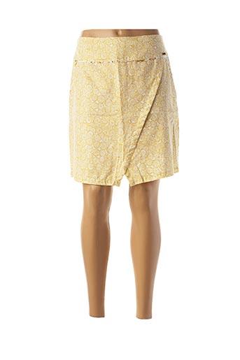 Jupe courte jaune MAE MAHE pour femme